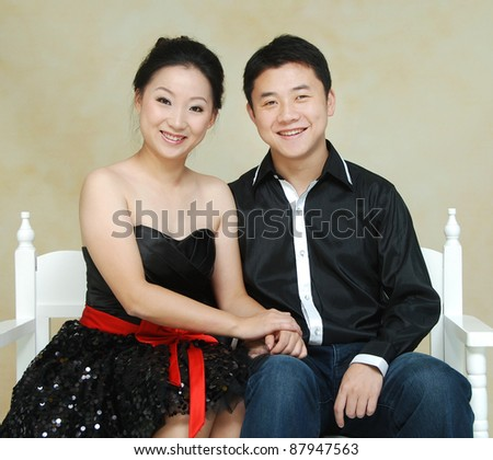 young Asian couple - stock photo