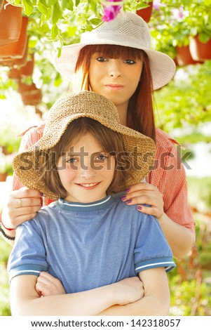 young farmers - stock photo
