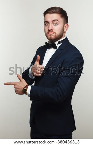 young man in formal wear portrait - stock photo