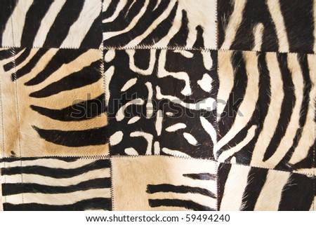 zebra blanket - stock photo