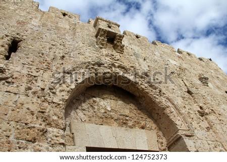 Zion Gate, Jerusalem, Israel - stock photo