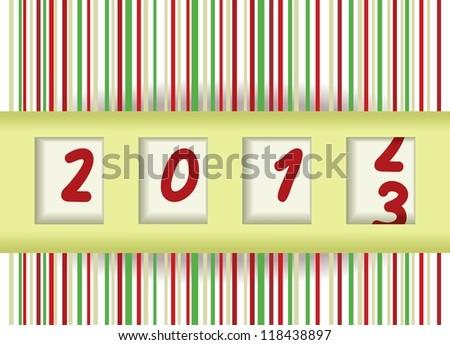 2012-2013 - stock photo