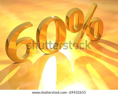 60 % - stock photo
