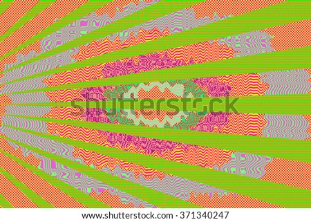 A abstract psychedelic background image. - stock photo