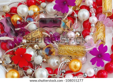 A background of colorful beads - stock photo