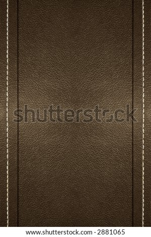 a background of leather with stitching on the edges - stock photo