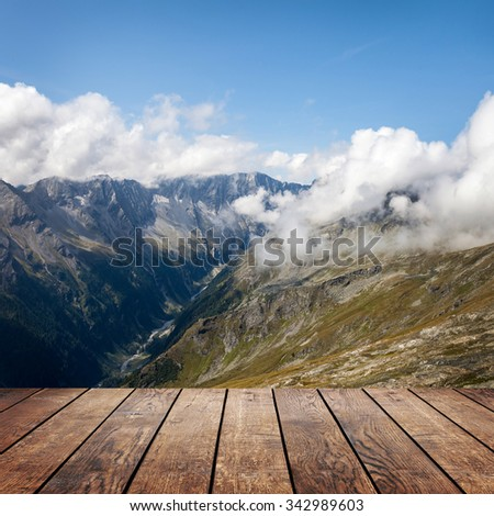 a backgrounds panorama mountains in Austria - stock photo