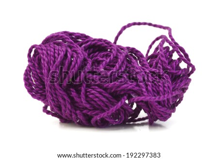 a ball of yarn  - stock photo