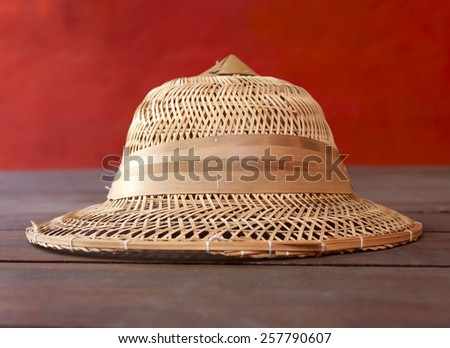 A Bamboo hat  - stock photo
