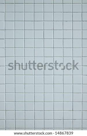 A base of white square tiles - stock photo