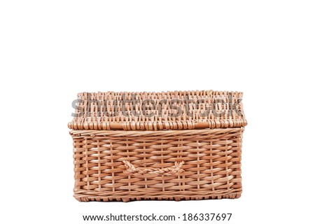 A Basket Isolated on a White Background  - stock photo