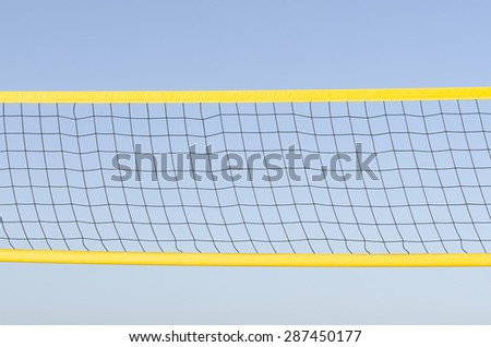A beach volleyball net on sky - stock photo