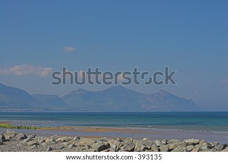 A beautiful beach in a secluded bay - stock photo