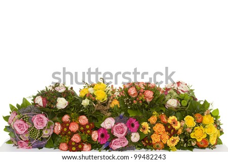a beautiful bunch of flowers - stock photo