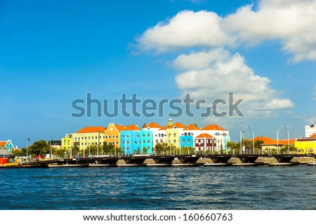 A beautiful day in Willemstad, Curacao - stock photo