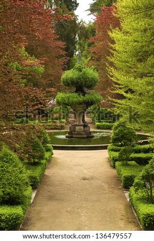 A beautiful garden. - stock photo