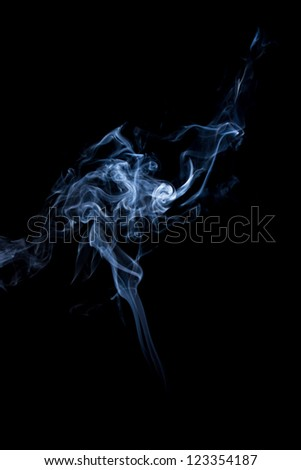 a beautiful isolated smoke background - stock photo