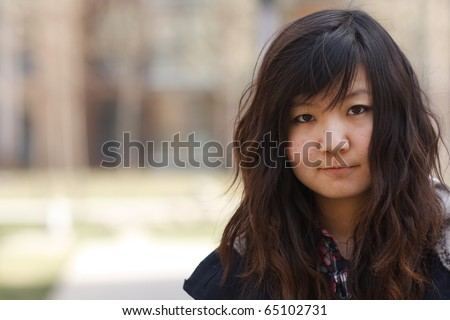 A beautiful portrait of Chinese girl. - stock photo