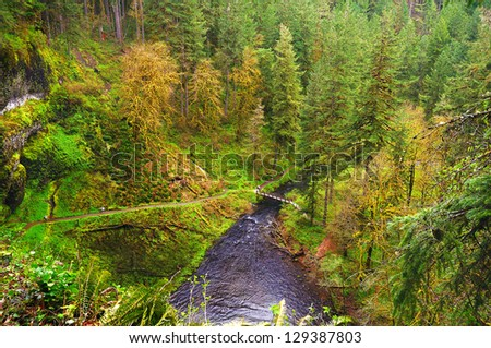 A beautiful view of sivler falls state park - stock photo
