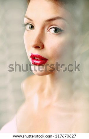 A beautiful woman, portrait - stock photo