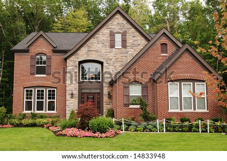 A beautifully custom built home - stock photo