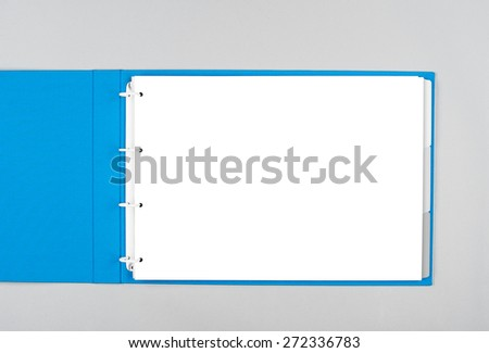 A binder folder - ready for your design artwork - clipping path included - stock photo