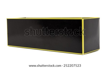 A black box on white background - stock photo