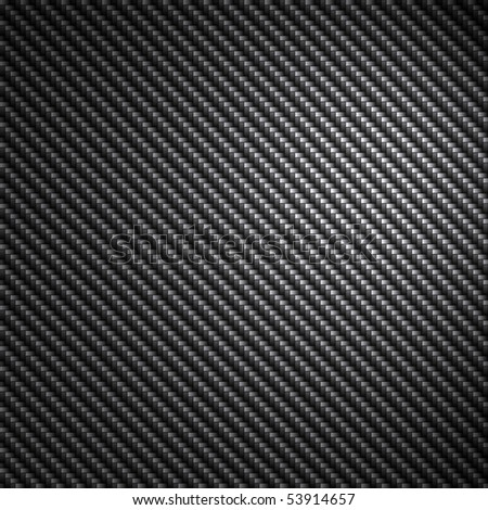 A black carbon fiber background texture with reflective highlights. - stock photo