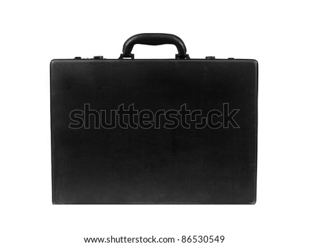 A black old fashioned business brief case - stock photo