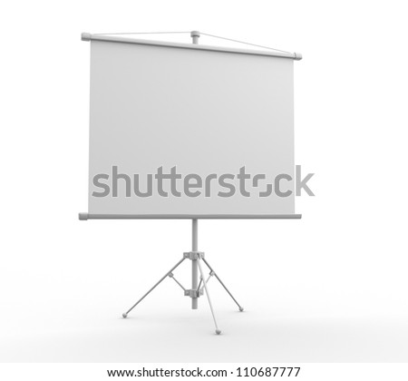 A blank board over white. - stock photo