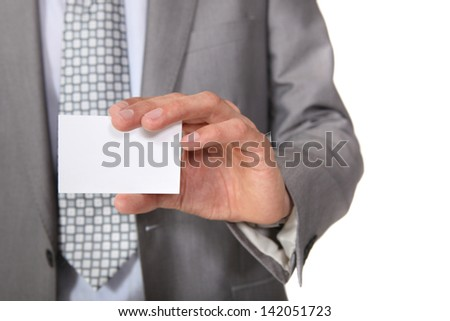 A blank business card - stock photo