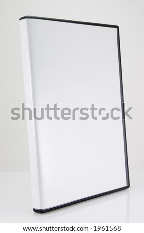 A blank CD/DVD case on white - stock photo
