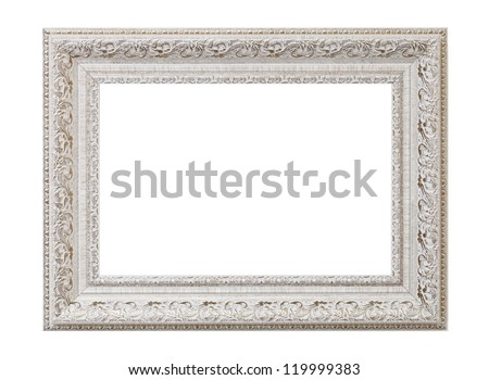 a blank picture frame - stock photo