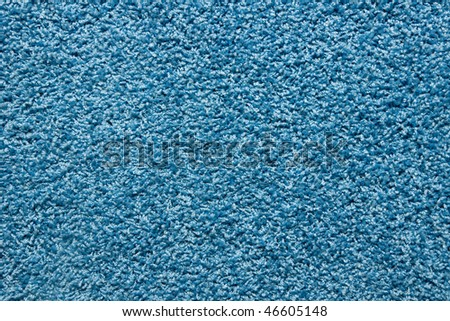 a blue carpet texture - stock photo