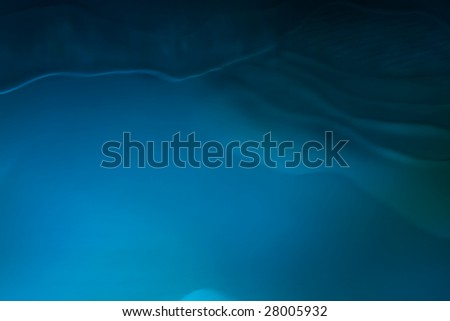 A blue wavey abstract design to be used as a texture - stock photo