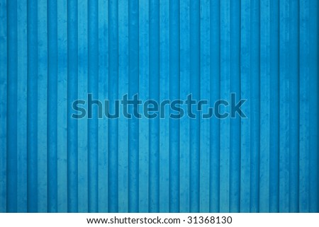 A blue wooden wall background - stock photo