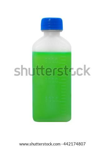 A bottle of medicine   - stock photo