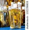 A bottle of snake liquor from asia - stock photo