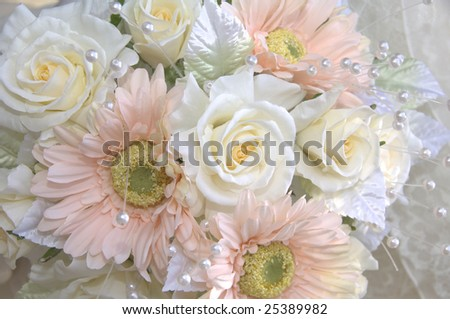 A bouquet of a wedding reception	 - stock photo
