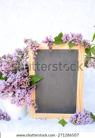 a bouquet of lilac , background for text - stock photo