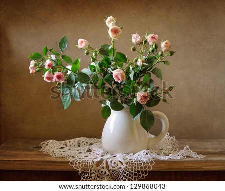 A bouquet of roses - stock photo
