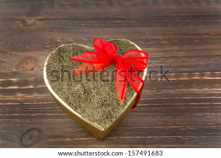 a box for a gift in the shape of a heart. photo icon for valentine's day, wedding anniversary, engagement. - stock photo