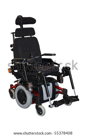 A Brand New Large Motorised Electric Wheelchair. - stock photo