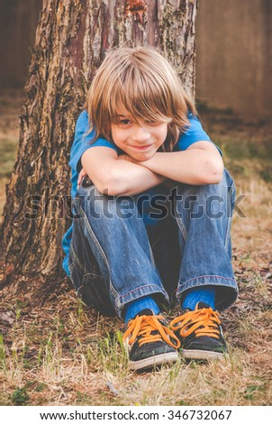 a brat little boy - revive - stock photo