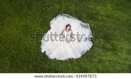 A bride preparing to be married  - stock photo