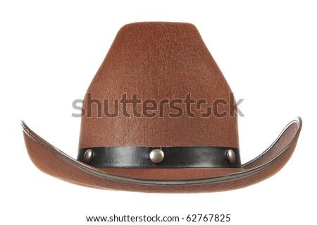 white cowboy hat front view