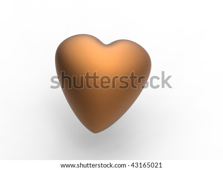 a brown heart - stock photo