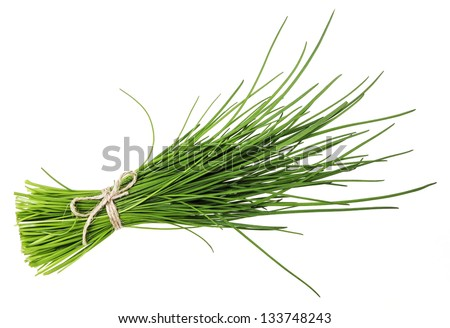 a bunch of fresh chives - stock photo