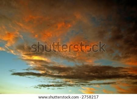 A burning sky - stock photo