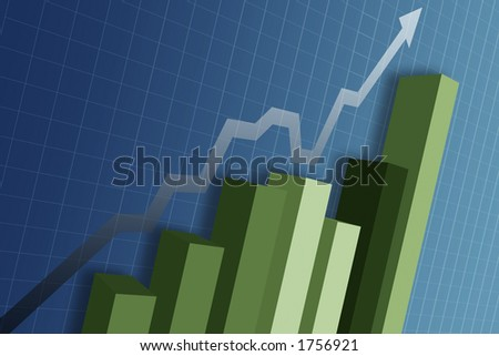 A business chart showing the money market - stock photo